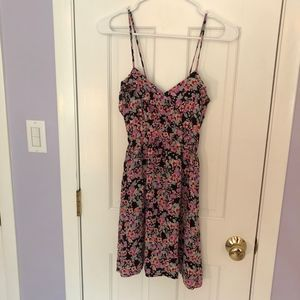 Forever 21 Pink Ruffle Floral Dress